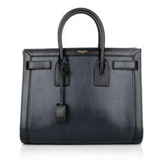 The Bag for Business: Saint Laurent Sac de Jour Small Black Blue bei Fashionette