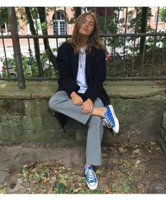 Fall 2018 and Winter fashion trends, outfits and the New Street Style Look Fashion, Fashion Outfits, Womens Fashion, Fashion Trends, Looks Style, Style Me, Look 2017, Look Blazer, Mode Simple