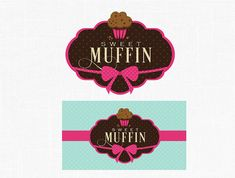 Custom Muffin Logo Design Bakery Logo Label Design Sweets Boutique Logo