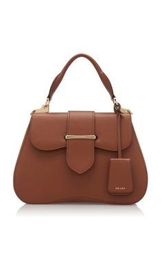 Large City Calf Cartella Bag by Prada Spring/Summer 2019 Prada Handbags, Prada Bag, Leather Handbags, Leather Bag, Chain Shoulder Bag, Small Shoulder Bag, Women's Crossbody Purse, Latest Bags, Round Bag