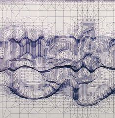 """everything, everything"" by Matt Shlian ballpoint pen on paper Matt Shlian, Drawing Sketches, Art Drawings, Pseudo Science, Cosmic Art, Origami, Sacred Geometry Art, Geometry Pattern, Architectural Prints"