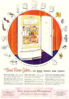 Westinghouse Refrigerator Fridge 1948