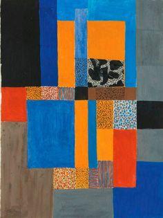 Johannes Itten (Swiss, Glashaus, Mixed media on paper, 38 x 28 cm. Bauhaus Colors, Bauhaus Art, Johannes Itten, Modern Art, Contemporary Art, Colour Story, Abstract Geometric Art, Color Studies, Arts And Crafts Movement