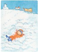 'Snow', limited edition print by Alison Lester. From picture book 'Kissed by the Moon' (Penguin Books). Books Illustrated - Limited Edition Prints