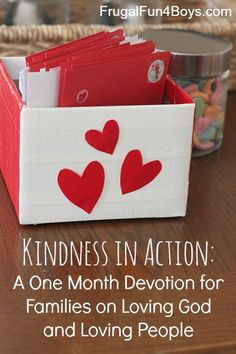 Kindness in Action:  A One Month Devotion for Families on Loving God and Loving People {Download and Print}