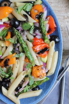 Grilled Veggie Pasta Salad. Quick, easy to throw together and delicious!