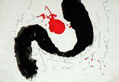 Sem Título (Papel) 61x43 cm por Maria Antónia Santos acrílico e tinta da china sobre papel