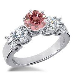 1.90 Karat Pink Diamant Ring aus 585er Weißgold. Ein Diamantring aus der Kollektion Pink von www.pearlgem.de