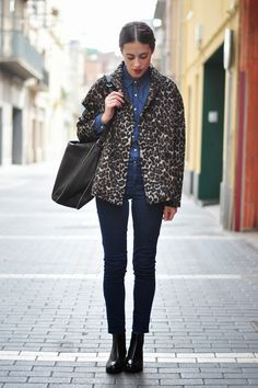 leopard print coat and boots | #androgynous #masculinetailoring #weekendstyle