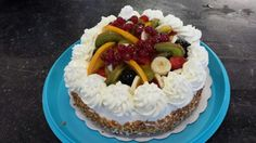 Biscuittaart met fruit