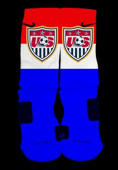 USA Soccer World Cup Custom Nike Elite Socks by EliteHeadquarters Soccer Gear, Us Soccer, Basketball Socks, Soccer World, Soccer Stuff, Nike Elites, Nike Elite Socks, Nike Socks, Crazy Socks