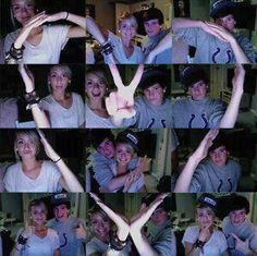 adorable. <3   Couple spell out a heart