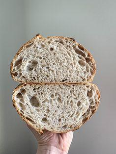 Anjelsky dobrý kváskový chlieb - Nelkafood s láskou ku kvásku Sourdough Bread, Baguette, Baked Goods, Nom Nom, Pizza, Gluten, Cooking, Basket, Bakken