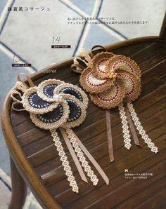 Crochet broaches. BethSteiner: Broches de crochê