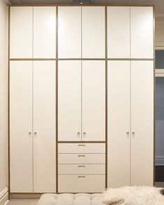 How good does this wardrobe look? Made with 24mm White MAXI Film Birch Plywood…