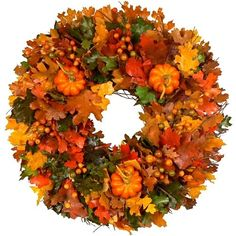 Image detail for -pumpkin spice wreath gorgeous silk fall pumpkin wreath