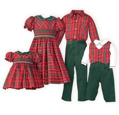 Holiday Plaid Brother Sister Outifts