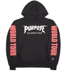 7446a30ccc9b Justin Bieber Purpose Tour Hoodie Purpose Tour by TripleOGco