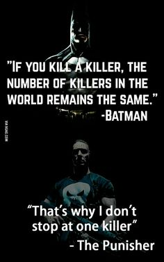 ... Batman and The Punisher ...