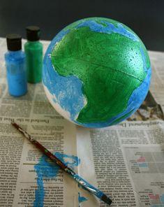 Como Fazer Um Globo Terrestre Escola Pinterest Globo