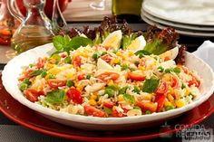 Receita de Salada de arroz vitaminado em receitas de saladas, veja essa e outras receitas aqui!
