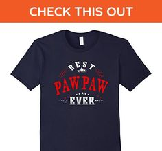 Mens Funny family shirt Best PAW-PAW ever t-shirt XL Navy - Relatives and family shirts (*Amazon Partner-Link)