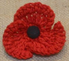 Knitted Poppy Pattern For British Legion : 1000+ images about Crochet poppy on Pinterest Crochet Poppy, Poppies and Re...