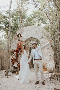 We're taking a trip to Tulum, Mexico for today's wedding inspiration. From the boho-chic backdrop to the macramé chandeliers and the subtle hints of orange, there's no shortage of amazing details. If you love earth tones, organic textures, and elegant wedding inspo, you're going to love this stylish inspiration shoot. See more wedding inspiration at rusticweddingchic.com | Photo: @letyaltamphotography Elegant Wedding, Boho Wedding, Rustic Wedding, Destination Wedding, Wedding Story, Boho Bride, Wedding Locations, Tulum, Real Weddings