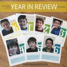 Organizing School Papers and Memories - elementary school years in review {Free printable} at http://www.itsalwaysautumn.com/home/2013/5/20/elementary-school-year-in-review-printable-divider-pages.html?lastPage=true=true