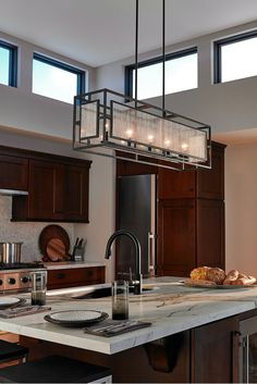 Inspired by Prairie School architecture, the geometric motifs, linear silhouettes and Dark Weathered Zinc finish of the Prairie lands lighting collection by Feiss have all been combined to create a transitional design perfect for sleek sophisticated look.