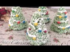 Rice Krispies Christmas Trees #JustPlumCrazy - YouTube