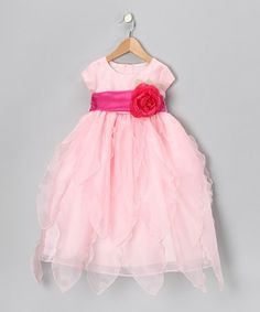 Take a look at this Sweá Pea & Lilli Pink Organza Petal Dress - Toddler & Girls by Wedding Perfect