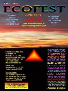 Louth, Lincolnshire UK: The last ever EcoFest is on the 15-17th June 2012. A great niche festival, not to be missed!
