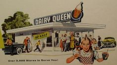 1956 Dairy Queen Ad. Then you could get 5 foot longs for a dollar or 5 hamburgers for a dollar. Those were the good old days
