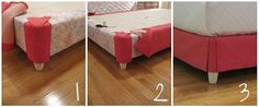 DIY bedskirt - upholster your box springs and get rid of your bed skirt