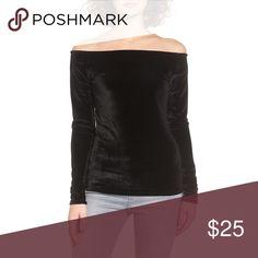 "2/$30💕Project social t ""velvet boat neck tee"" NWT, super cute velvet long sleeved shirt. Sold out online. Project Social T Tops"
