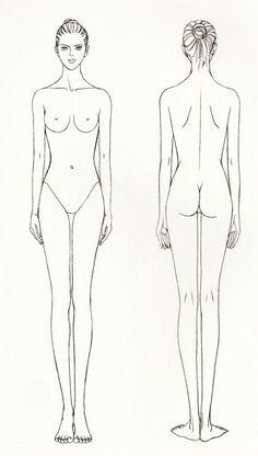 Шаблоны женских фигур в статике – 42 фотографии