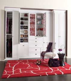 Wardrobe, Suite System in White with Ecoresin