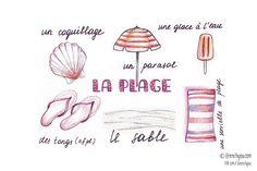 la plage-the beach | woordjes Frans