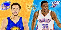 Golden State Warriors Versus Oklahoma City Thunder - Who will win today? Warriors face must win in Game 5 against Thunder. If Golden State wins, the series will then transition back to Oklahoma City for Game                      Who Will Win, Oklahoma City Thunder, Love And Respect, Golden State Warriors, Drawing People, Cartoon Drawings, People Like, Caricature, Hand Drawn