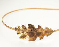 Eichenblatt Stirnband fallen Herbst Haar Zubehör Kupfer Messing oder Silber by mylavaliere on Etsy