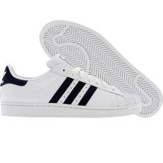 Adidas Superstar II 2 (white / new navy / white) G17070 - $69.99 Fresh Kicks, Adidas Superstar, Adidas Shoes, Navy And White, Rainbow, Fashion, Rain Bow, Moda, Adidas Sneakers