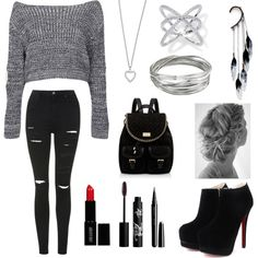 Day Out W/ Friends #3 by leilani14 on Polyvore featuring polyvore fashion style Boohoo Topshop Forever New Yves Saint Laurent Anni Jürgenson Whistles Marc Rouge Bunny Rouge Lord & Berry