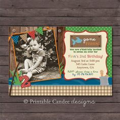 Gone Fishing Birthday Invitation  DIY Custom by printablecandee, $10.00
