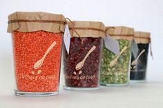 Cuchara de palo. Variedades. Nice bean and legume #packaging