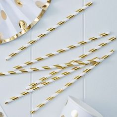 Gold Metallic Paper Straws - Pick And Mix from Australia's online wedding and party store Pink Frosting