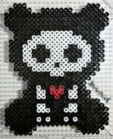 Skelanimals ChungKee the Bear perler bead by PerlerPixie