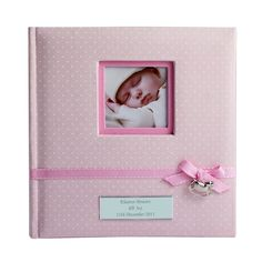 Personalised baby girl photo album princess design personalised gifts for baby girls pink polka dot rocking horse album gift negle Gallery