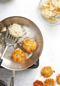 We'll show you how to make latkes in four easy steps with this recipe. #hanukkah #hanukkahrecipes #hanukkahfood #traditionalrecipes #dinner #bhg Feliz Hanukkah, Hanukkah Food, Hanukkah Recipes, Jewish Recipes, Happy Hanukkah, Potato Recipes, New Recipes, Cooking Recipes, Favorite Recipes