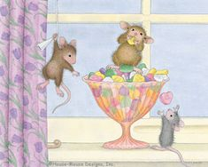 """Monica, Mudpie, Maxwell and Muzzy"" from House-Mouse Designs®"